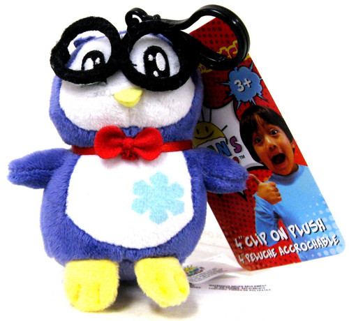 Ryan's World Penguin 4-Inch Clip On Plush