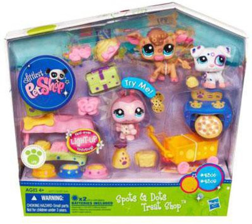 Littlest Pet Shop Spots & Dots Treat Shop Playset [Light-up Ladybug]