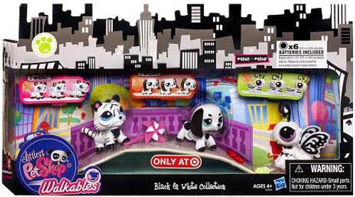 Littlest Pet Shop Walkables Black & White Collection Exclusive Figure Set