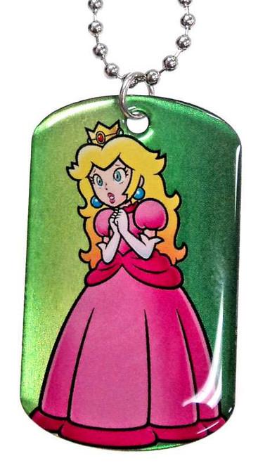 Super Mario 2D Princess Peach Dog Tag #7 [Loose]