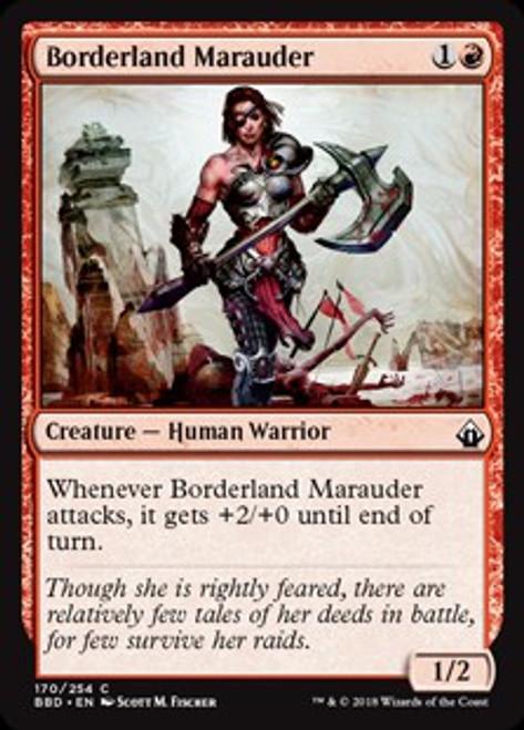 MtG Battlebond Common Foil Borderland Marauder #170
