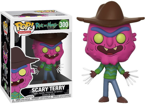 Funko Rick & Morty POP! Animation Scary Terry Vinyl Figure #300 [Wearing Hat, Damaged Package]
