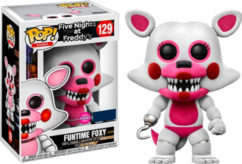 Funko Five Nights at Freddy's POP! Games Funtime Foxy Exclusive Vinyl Figure #129 [Flocked, Damaged Package]