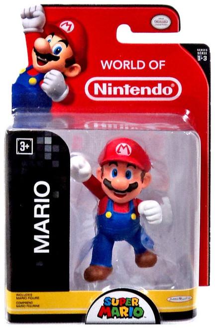 World of Nintendo Super Mario Mario 2.5-Inch Mini Figure [Jumping, Damaged Package]
