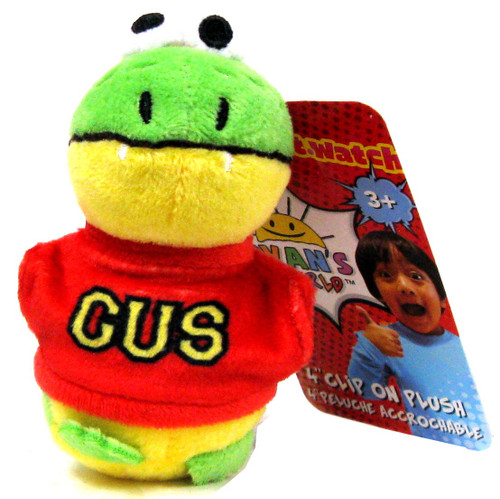 Ryan's World Gus the Gummy Gator 4-Inch Clip On Plush