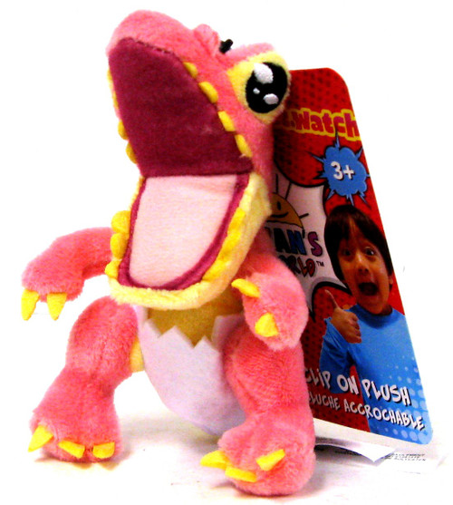 Ryan's World Pink Dinosaur 4-Inch Clip On Plush