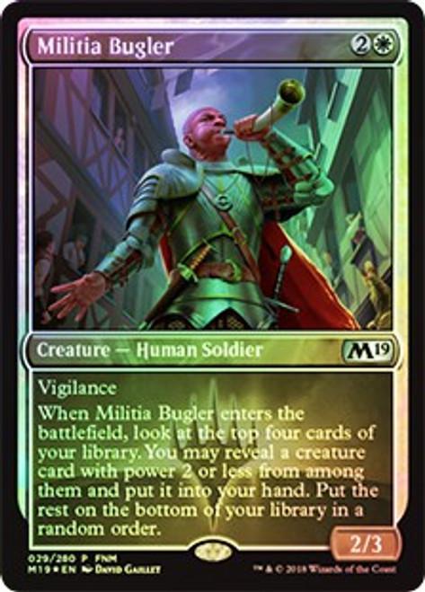MtG Friday Night Magic Promo Militia Bugler [FNM 2018]