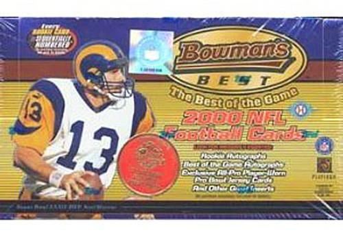 NFL Topps 2000 Bowman's Best Football Trading Card HOBBY Box [24 Packs]