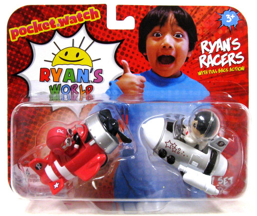 Ryan's World White Space Ship & Red Airplane 2-Inch Racers 2-Pack