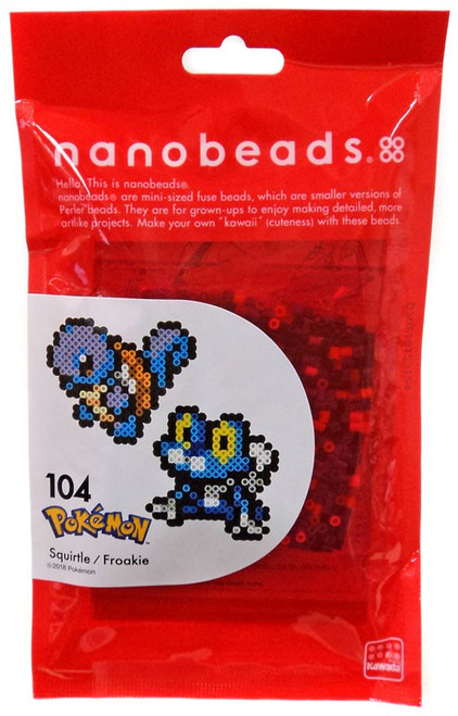 Nanobeads Pokemon Froakie & Squirtle Craft Sprite Bead Set
