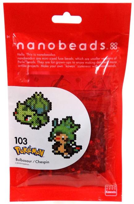 Nanobeads Pokemon Bulbasaur & Chespin Craft Sprite Bead Set