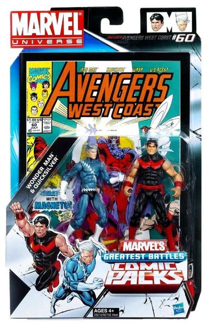 Marvel Universe Wonder Man & Quicksilver Action Figure 2-Pack [Damaged Package]
