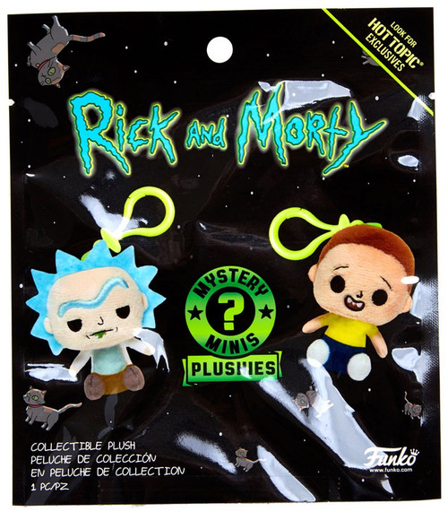 Funko Mystery Minis Plush Keychains Rick & Morty Exclusive Mystery Pack [1 RANDOM Figure]
