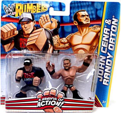 WWE Wrestling Rumblers Series 2 John Cena & Randy Orton Mini Figure 2-Pack