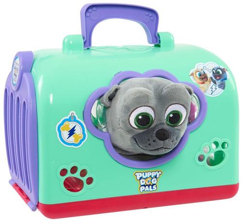 Disney Junior Puppy Dog Pals Groom & Go Bingo 8-Inch Pet Carrier Play Set [Green]