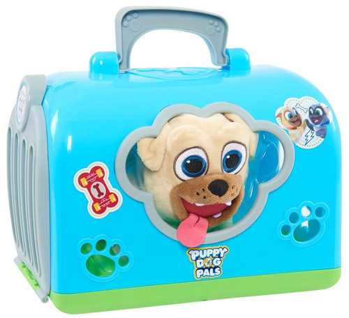 Disney Junior Puppy Dog Pals Groom & Go Rolly 8-Inch Pet Carrier Play Set