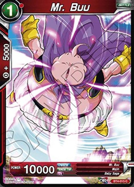Dragon Ball Super Collectible Card Game Colossal Warfare Common Mr. Buu BT4-015