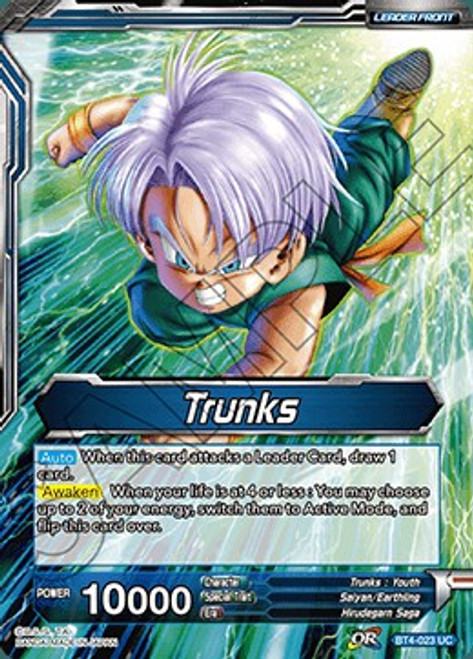 Dragon Ball Super Collectible Card Game Colossal Warfare Uncommon Trunks BT4-023
