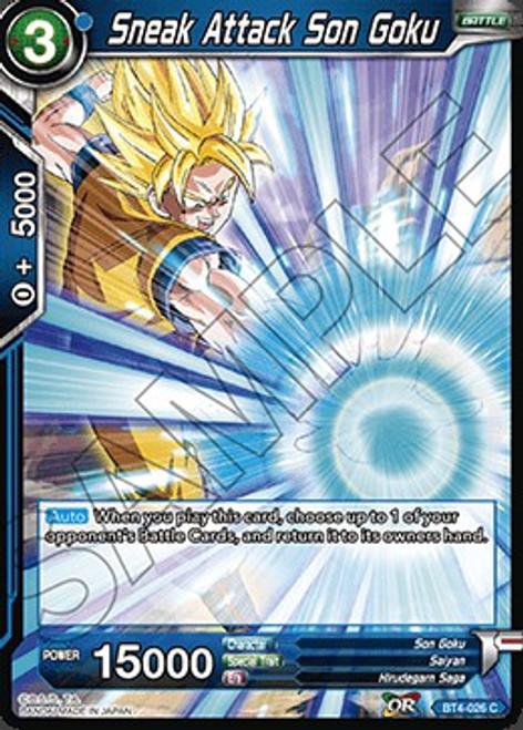 Dragon Ball Super Trading Card Game Colossal Warfare Common Sneak Attack Son Goku BT4-026