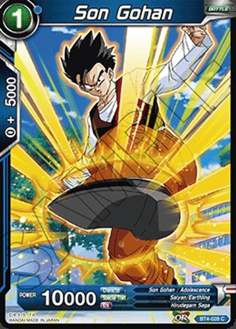 Dragon Ball Super Trading Card Game Colossal Warfare Common Son Gohan BT4-028