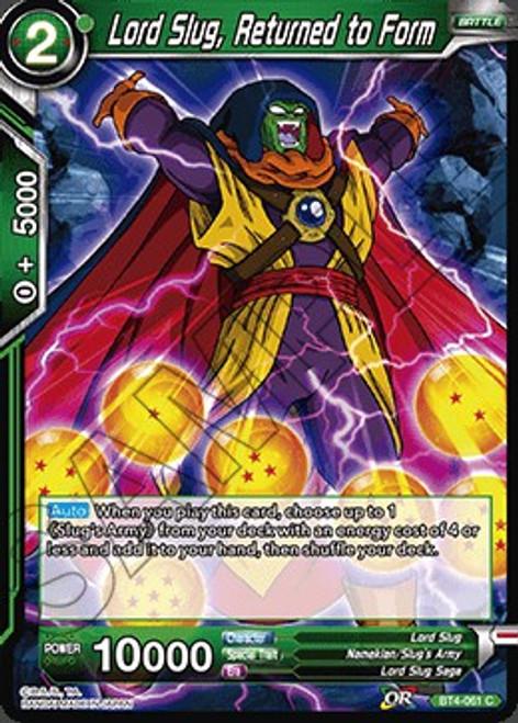 Dragon Ball Super Trading Card Game Colossal Warfare Common Lord Slug, Returned to Form BT4-061
