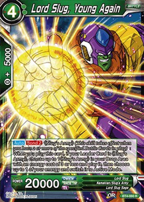 Dragon Ball Super Trading Card Game Colossal Warfare Rare Lord Slug, Young Again BT4-060