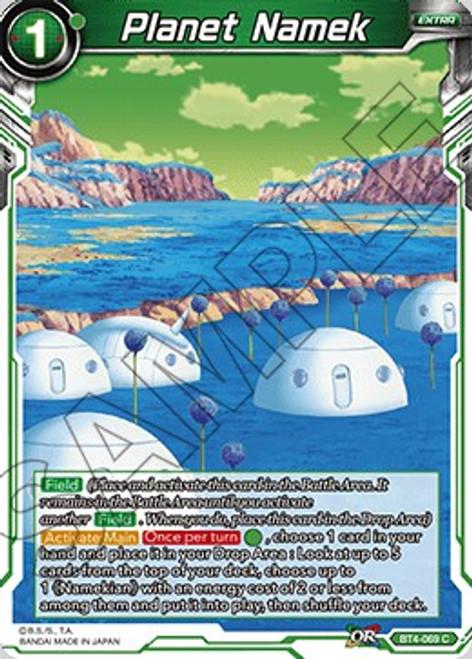 Dragon Ball Super Trading Card Game Colossal Warfare Common Planet Namek BT4-069