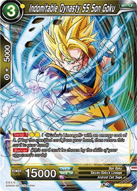 Dragon Ball Super Collectible Card Game Colossal Warfare Uncommon Indomitable Dynasty SS Son Goku BT4-077