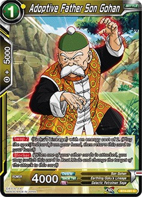 Dragon Ball Super Trading Card Game Colossal Warfare Common Adoptive Father Son Gohan BT4-091