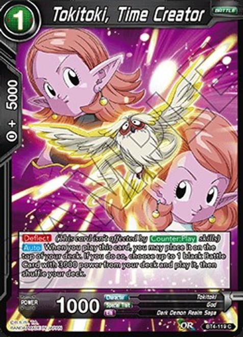 Dragon Ball Super Collectible Card Game Colossal Warfare Common Tokitoki, Time Creator BT4-119