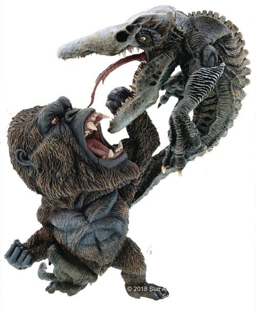 Skull Island King Kong Vs. Crawler 6-Inch Deform Soft Vinyl Statue