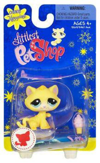 Littlest Pet Shop Yellow Cat with Ice Cream Cone Figure