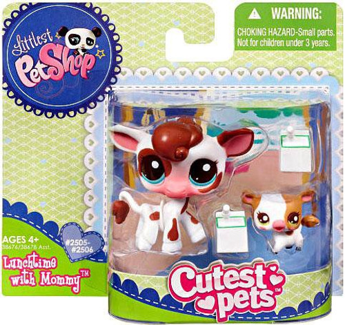 Littlest Pet Shop Cutest Pets Mommy & Baby Cows Figure 2-Pack [Lunchtime]