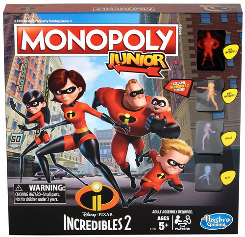Disney / Pixar Incredibles 2 Monopoly Junior Board Game