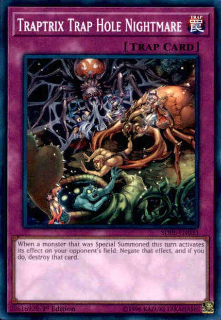 YuGiOh Powercode Link Structure Deck Common Traptrix Trap Hole Nightmare SDPL-EN033