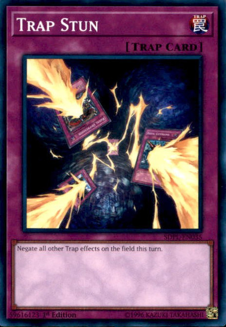 YuGiOh Powercode Link Structure Deck Common Trap Stun SDPL-EN035