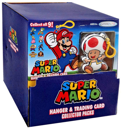 Super Mario Hanger & Trading Card Collector Packs Mystery Box [24 Packs]