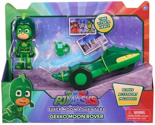 Disney Junior PJ Masks Super Moon Adventure Gekko Moon Rover Vehicle & Figure