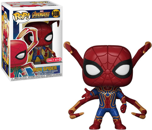 Funko Marvel Universe Avengers Infinity War POP! Marvel Iron Spider Exclusive Vinyl Figure #300 [with Legs, Damaged Package]