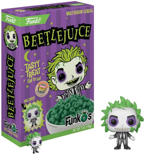 FunkO's Beetlejuice Exclusive 7 Ounce Breakfast Cereal