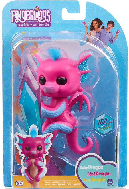 Fingerlings Baby Dragon Sandy Figure [Pink]