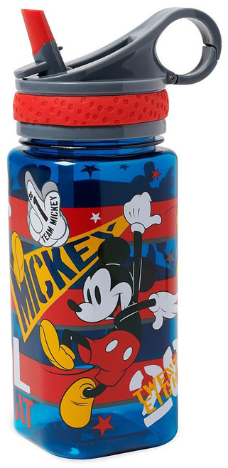 Disney Don't Worry be Mickey Exclusive Water Bottle [with Straw]