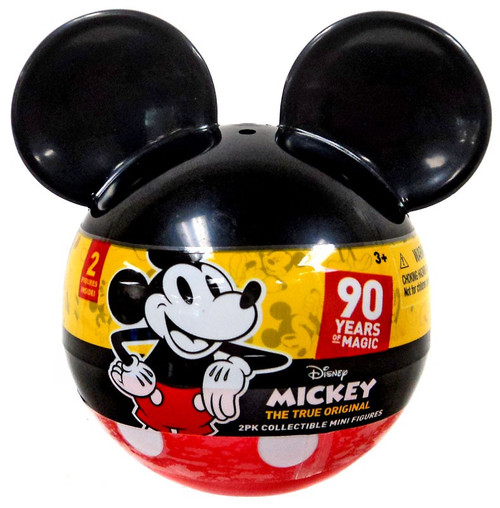 Disney Mickey the True Original 90 Years of Magic Collectible Mini Figure 2-Inch Mystery 2-Pack