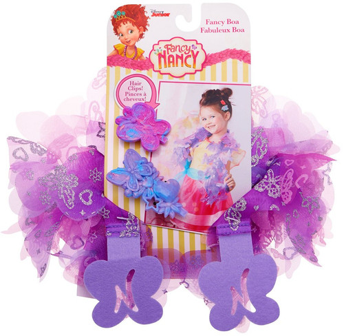 Disney Junior Fancy Nancy Fancy Boa & Hair Clips [Purple]