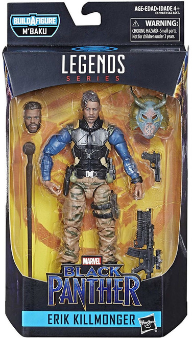 Black Panther Marvel Legends M'Baku Series Erik Killmonger Action Figure [Military]
