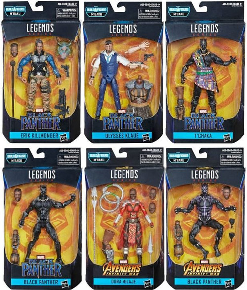 Black Panther Marvel Legends M'Baku Series Set of 6 Action Figures