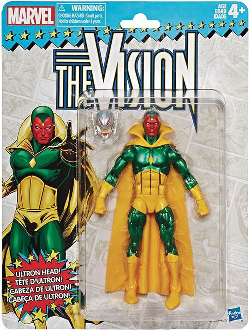Marvel Legends Vintage (Retro) Series 2 Vision Action Figure [Classic Costume]