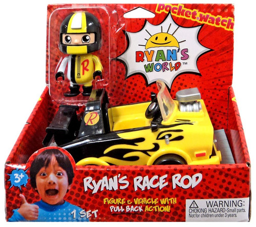 Ryan's World Ryan's Race Rod 3-Inch Figure & Vehicle