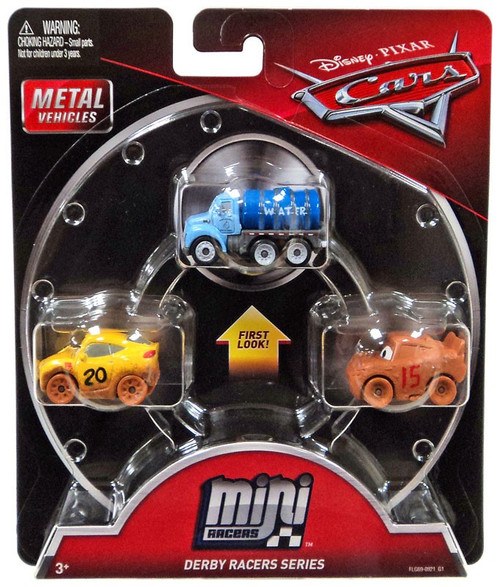 Disney / Pixar Cars Die Cast Mini Racers Mr. Drippy, Muddy Cruz & Muddy McQueen Car 3-Pack
