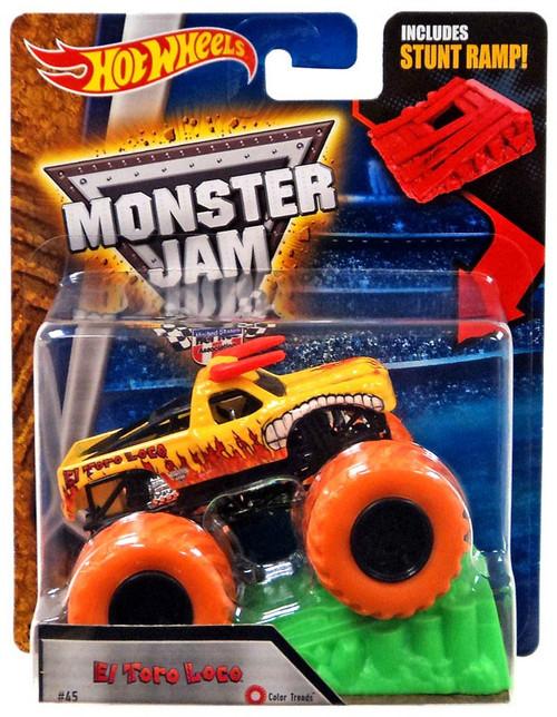 Hot Wheels Monster Jam Color Treadz El Toro Loco Die-Cast Car [Stunt Ramp]